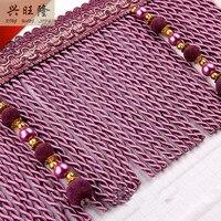 11Yard Lot 16cm Width Curtain Accessories Rope Lines Velvet Beads Lace Tassel Fringes Trim Ribbons DIY