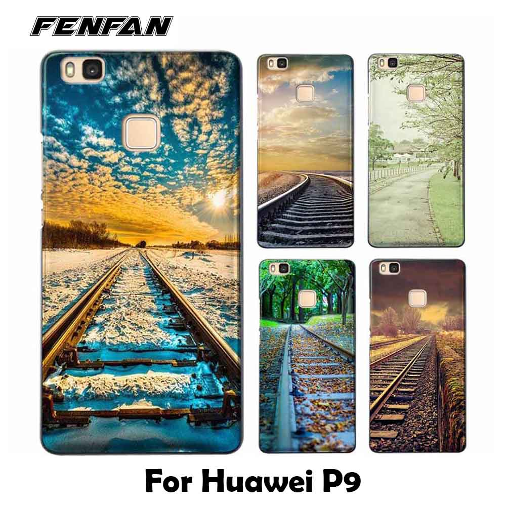 For coque Huawei P9 case Railway scene Soft TPU cover for fundas Huawei P9 case new arrivals for Huawei P9 case