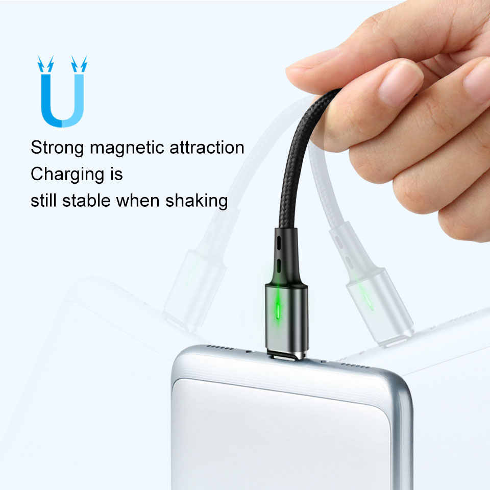 1M 3A Magnetic Fast Type C Charger & Data Cable for LG Stylo 4 Plus Q  Stylo+ G6+ V50 V40 ThinQ V20 Q8 2018 USB-C Chargeur Cable