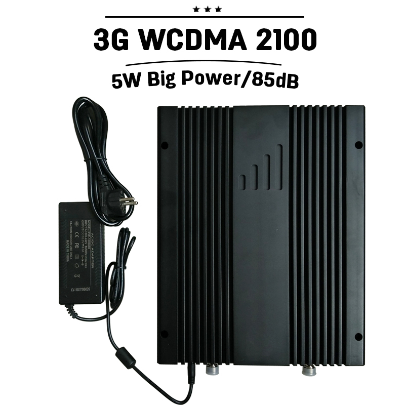 Supper Power 85dB Gain 3G WCDMA 2100mhz Cell Phone Signal Booster 3G UMTS Amplifier Repeater For Office Supermarket Parking #39