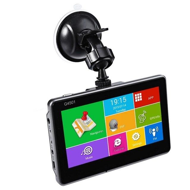 LCD de 4.5 ''Android 4.4 Del Coche Dvr Camara Gps DVR Tablet Bluetooth WiFi FM Reproductor de HD 1080 P Con Cargador de Enchufe de La Ue