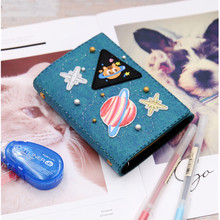 DIY Embroidery Felt Kits Notebook Graduation Gift Journal Book Cute Space Planet Theme Cover Craft Kit Material Package For Kids