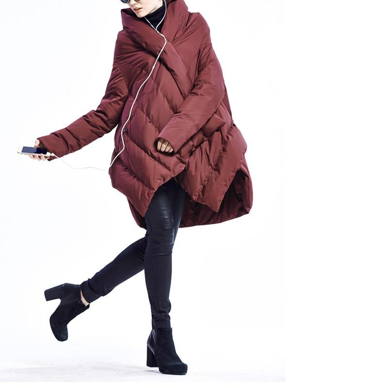 Ac014 Au Le Irrégulier Majeur De wine ewq Bas Manteau Modèle Vêtements 2018 Coton Vestes Black Hiver Nouveau Décontracté Haut Conception Garder Gamme Red Chaud Vers Mode BnIXxT5Xwz