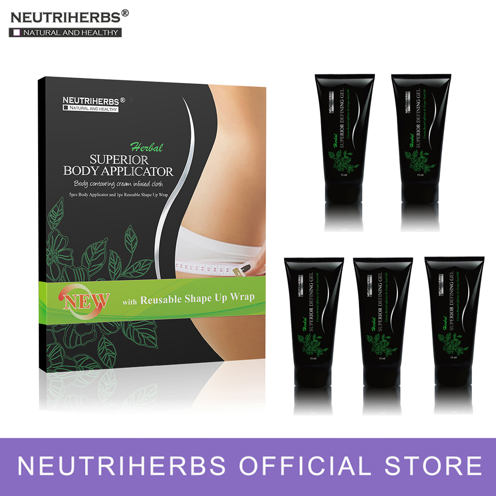 Neutriherbs Body Applicator Skin Tightening, Firming Cream It Works to Stretch Marks Removal Weight Loss 5 Wraps + 5 Free Gel