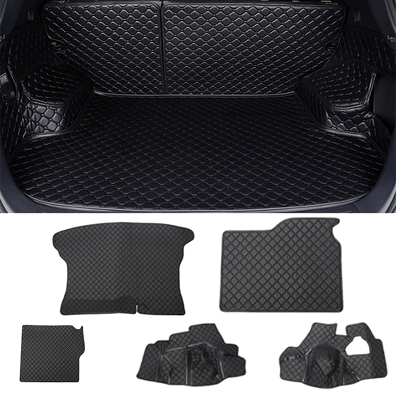 5Pcs/Set Black Rear Trunk Cover Car Cargo Mat Floor Protector For Kia /Sportage 2016 car rear trunk security shield cargo cover for volkswagen vw tiguan 2016 2017 2018 high qualit black beige auto accessories