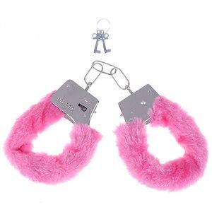 Image 4 - Erotyczne seksowne akcesoria z regulowanym pluszowym pakietem kajdanki dla niewolnika fetysz odgrywanie ról BDSM Bondage gra erotyczna dla par