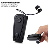 DAONO Bluetooth Earphone Business Wireless Handsfree Earbuds Headset With Microphone Calls Remind Vibration Wear Clip Driver