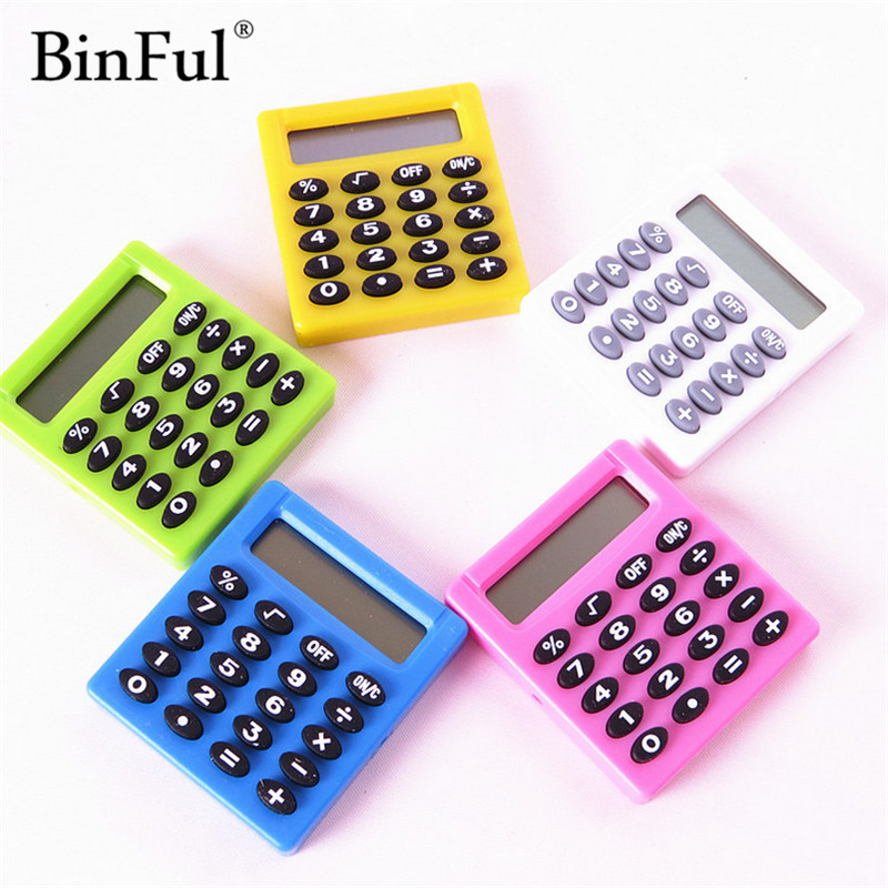 BinFul Boutique Stationery Small Square Calculator Personalized Mini Candy Color School & Office Electronics Creative Calculator