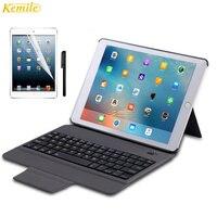 Kemile Ultra Slim Bluetooth Keyboard With Magnetic Holder Leather Case Cover Tablet Keypad Klavye For IPad