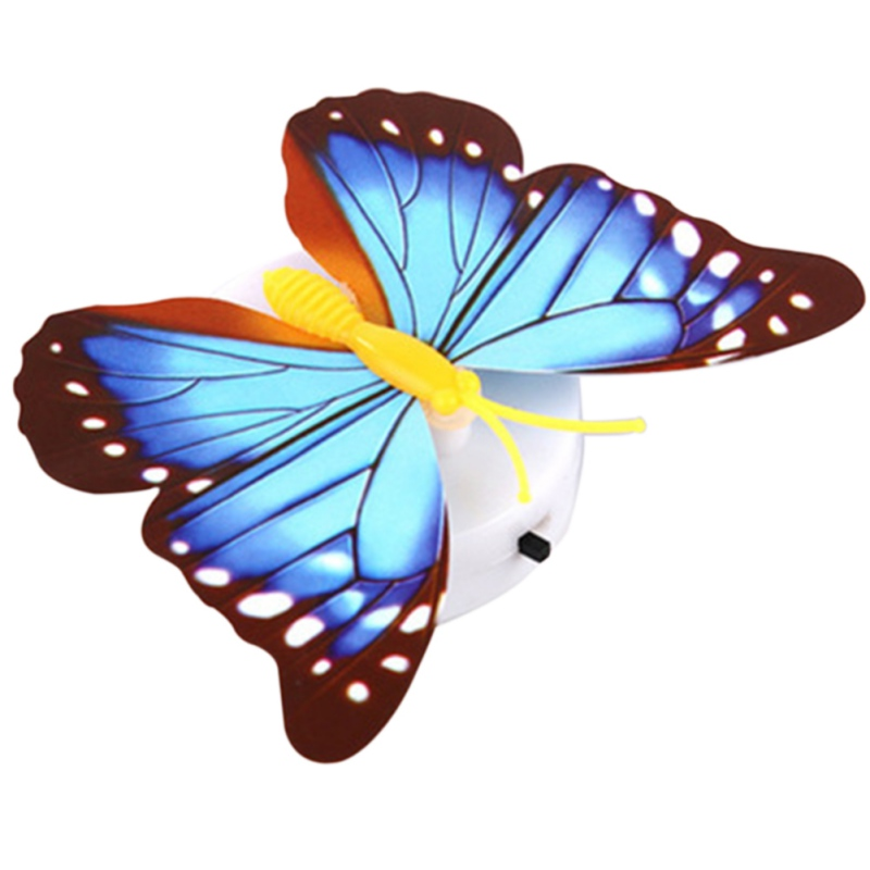 3D LED Seven Colored Self adhesive Butterfly Wall Stickers ...