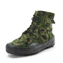2019 Mannen Mode Toevallige Camouflage Schoenen Mannen Labor Bevrijding Rubber Schoenen Jungle Canvas High Top Training schoenen