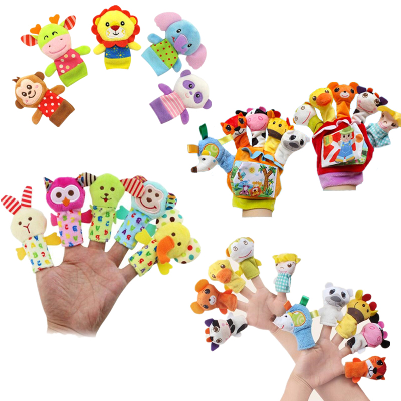 Animal Finger Puppet Playtime  Stuffed Plush Family Parent-Child Interaction Hand Puppets Glove Toy Great Toddler Gift For Kids