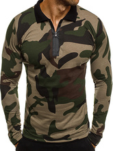 ZOGAA 2019Long Sleeve T-shirts Military Men Clothes Fashion Spring Shirt Parkas Outerwear Camouflage Hot Sale