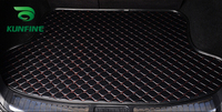 Car Styling Car Trunk Mats for KIA CERATO Trunk Liner Carpet Floor Mats Tray Cargo Liner Waterproof 4 Colors Optional