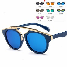 MYT_0109 Kids Sunglasses Boys And Girls Luxury Vintage Children Round Sun Glasses Oculos Feminino Accessories