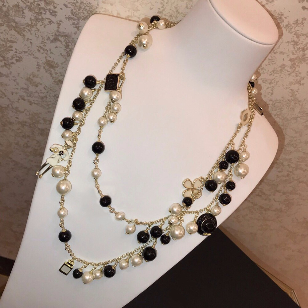 2019 nouveau Design de luxe marque bijoux mode Long Maxi collier cristal pour les femmes fête de mariage quotidien Designer accessoires-in Colliers chaîne from Bijoux et Accessoires    1