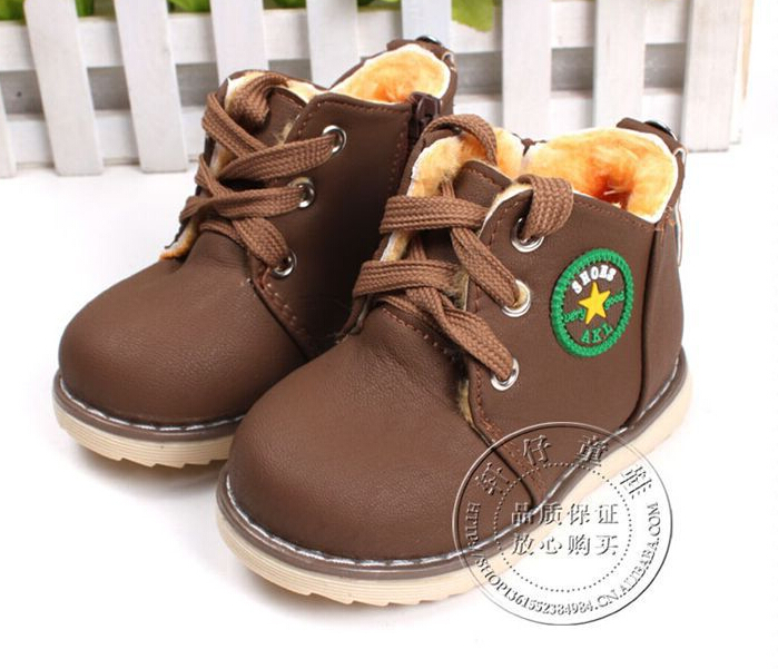 2017-new-childrens-snow-boots-warm-shoes-for-boys-and-girls-thick-cotton-padded-ace-up-boots-comfort-baby-shoes-Size-21-30-2