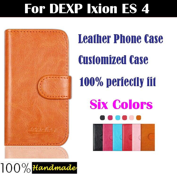 6487ad5062c24 Nowy dostosowane Smartphone klapki skóra Case dla DEXP Ixion ES2 4 4 cal  pokrywa posiadacz karty portfel styl 6 kolory w magazynie