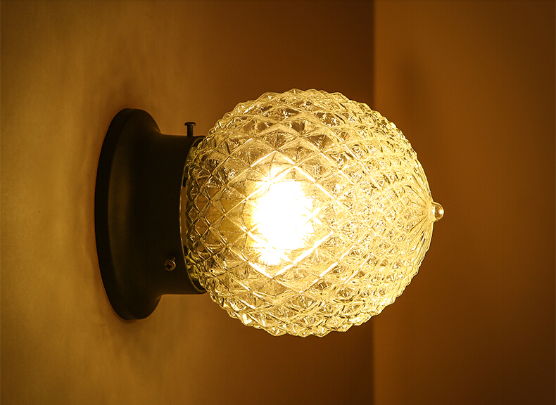 Plafoniere Led Vintage : Palla di vetro semplice industrial vintage corridoio plafoniere a