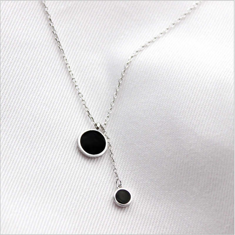 XIYANIKE New 925 Sterling Silver Simple Fashion Necklace Trendy For Women Birthday Gift Fashion Jewelry Promotions VNS8405