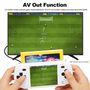 Image 5 - Powkiddy S600 2.8 Inch Game Console Built In 68 Classic Games 8 Bit Av Out Video Handheld Gamepad White Newest