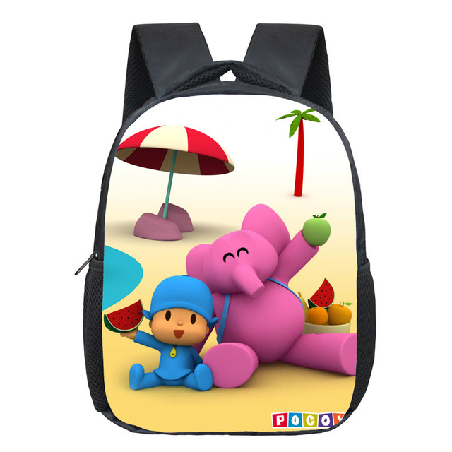 Pocoyo Elly Pato Loula Backpack Cute Boys Girls Daily Backpacks