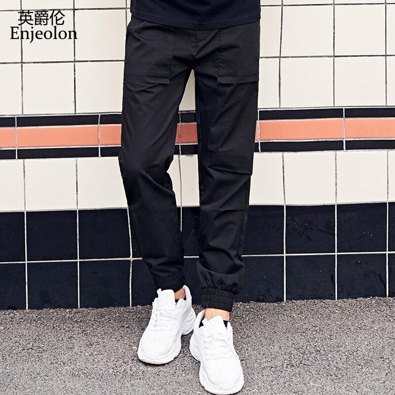 Enjeolon Men Pants Stretchy Cargo Full Length Pants For Men Trousers Casual Multi Pocket Pantalones Hombre New Arrival K6632(China)