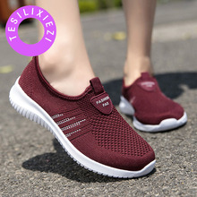 Big Size New Women Light Sneakers Casual Air Mesh Breathable Mesh Female Cheap Lady Walking Outdoor Sport Comfortable Plus Size