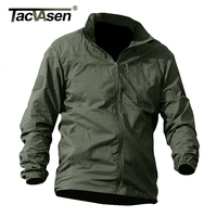 TACVASEN High Quality Summer Men Jacket Military Tactical Waterproof Jacket Thin Windbreaker Quick Dry Jacket Coat YCXL 011 01