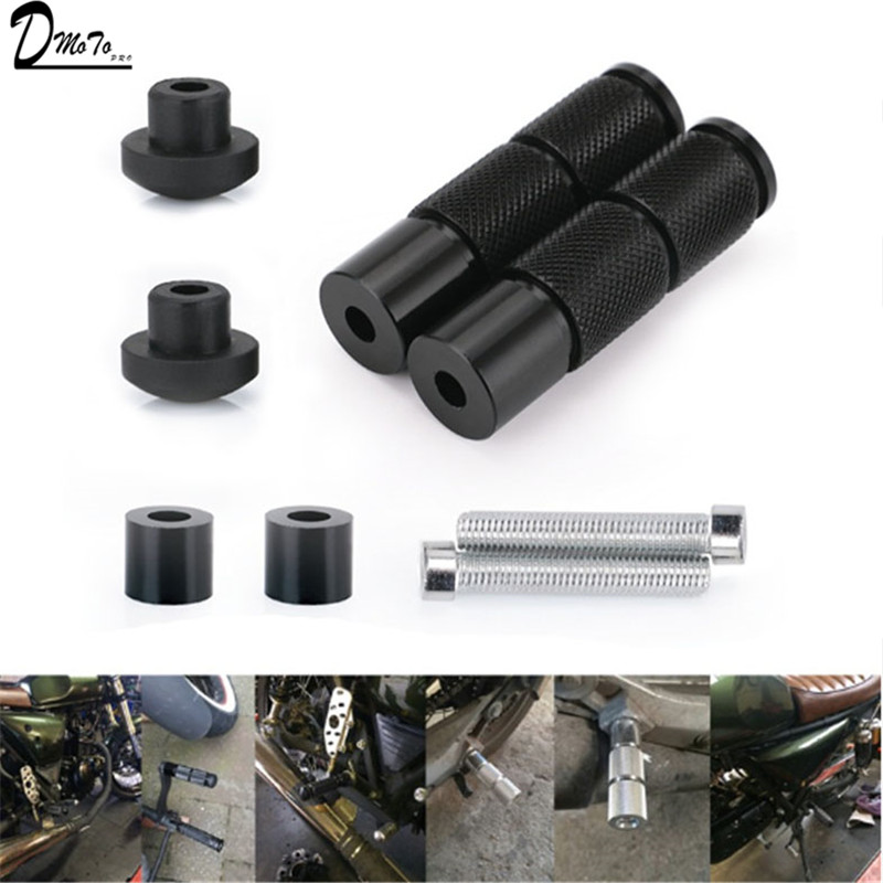 Universal CNC Aluminum Alloy Motorcycle Round Foot Pegs Front Rider Footpegs Pedals For Dirt Pit Bike ATV Motorcycles Scooter