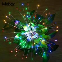Сказочный светящийся светильник 120LED многоцветный медный провод Светильник s люстры фестиваль пейзаж лампа Рождественская елка украшение