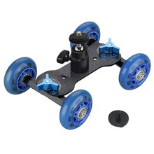 Camera Video Rail Rolling Track Slider Skater Mobile Dolly Car w/11″ Magic Arm