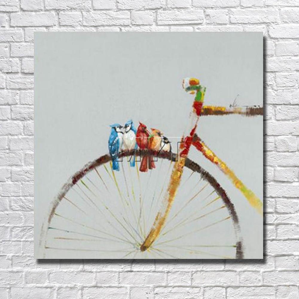 ③El Aves La Bicicletas pintura Decoración para el hogar Decoración ...