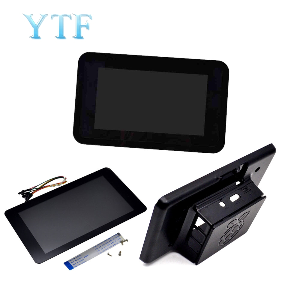 Raspberry Pi Touchscreen 7 Inch LCD + Shell Touch Screen Display Module 10 Point Touch Capacitive Screen