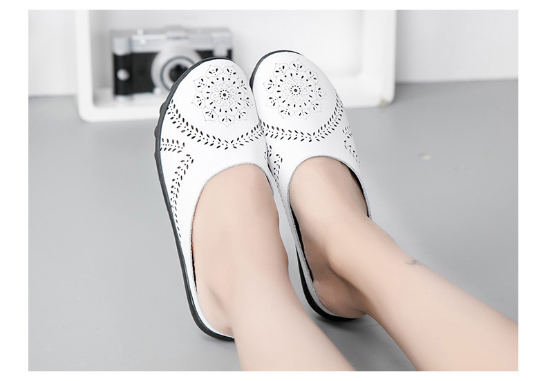 XY 991 Cut Outs Women's Summer Flats Shoes -19