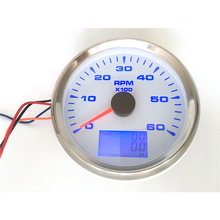 85 mm Universal  Car Auto Motorcycle Tachometer 6000 RPM Meter with Hour Meter 12V/24V Rev Counter rpm meter 6k j48s jc48s textile meter counter electronic ac220v 24v