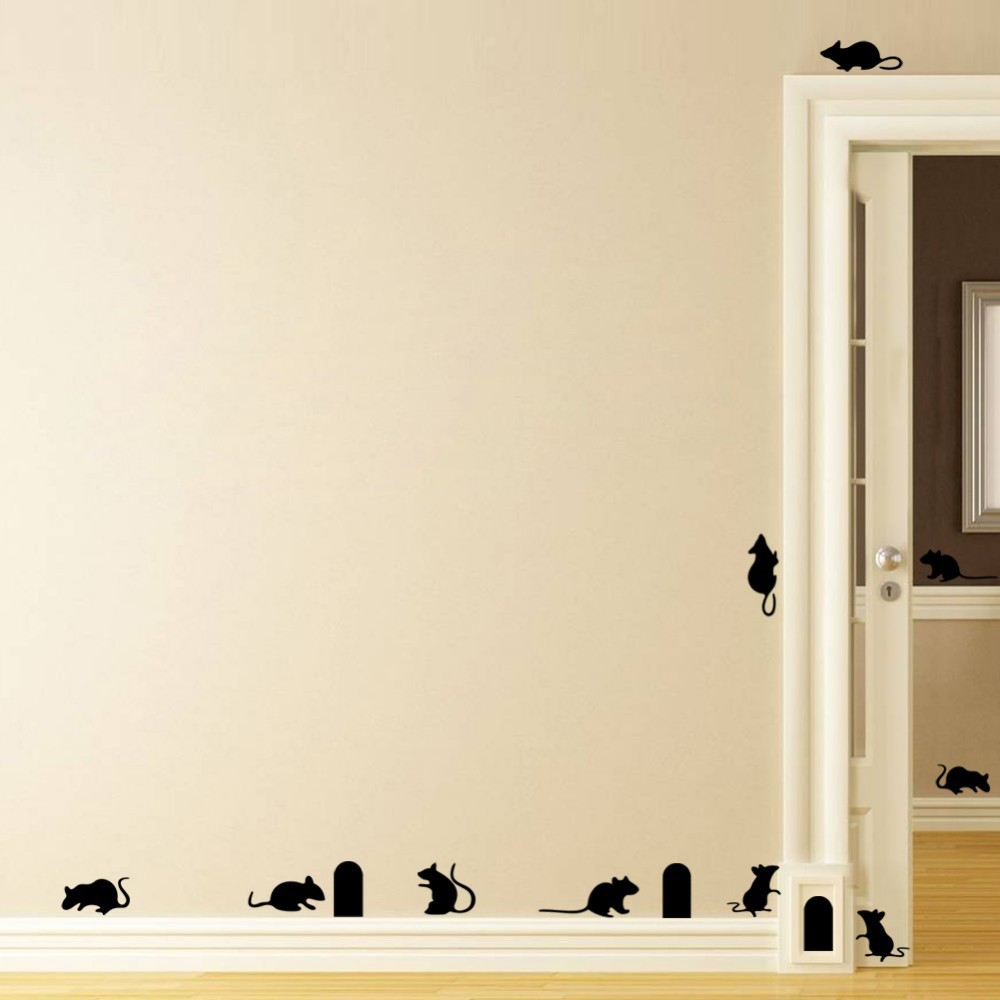 Newly arrived home decoration wall stickers home decor amazon rat hole living room backdrop waterproof removable sticker in wall stickers from home garden