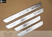 door sill strip for 2009-12 RAV4 stainless steel Threshold strip body protectors exterior decoration strip welcome pedal