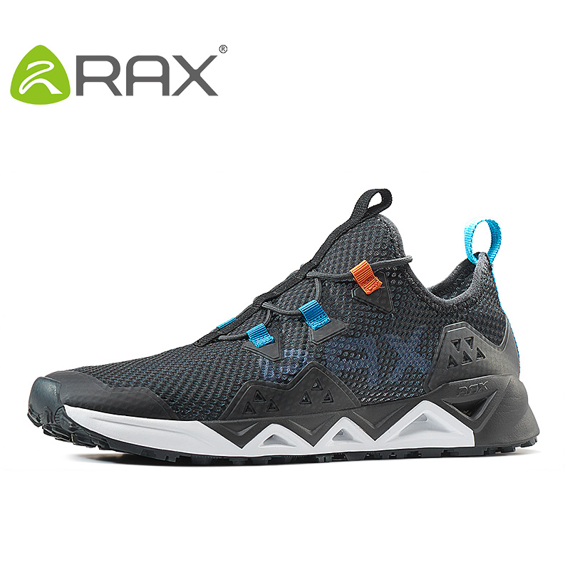 Rax 2017 Breathable Mesh Hiking Shoes Men Summer Lightweight Trekking Shoes Men Outdoor Walking Sneakers Women Zapatos rax 2015 mens outdoor hiking shoes breathable mesh suede trekking shoes men genuine leather sneakers size 39 44 hs25
