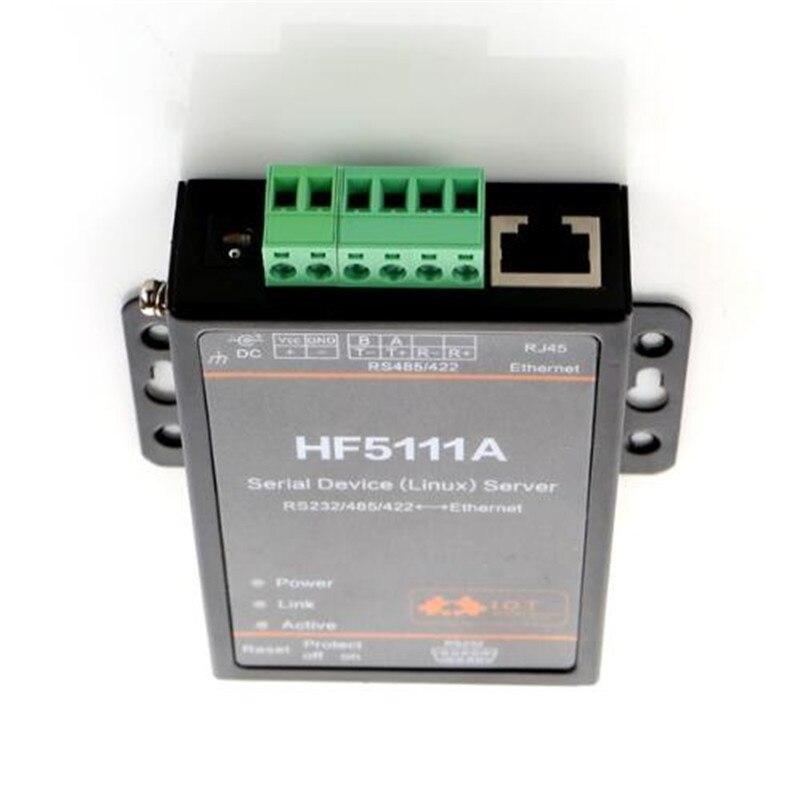 CE FCC Offical 5111A RJ45 RS232/485/422 To Ethernet Linux Serial Port Server Converter Device Industrial