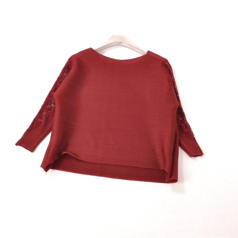dark Chemises Porter red Femmes Plissé Black grey Printemps Lady Blue New Tops Élégant Casual Mode wine Pull qHw7v