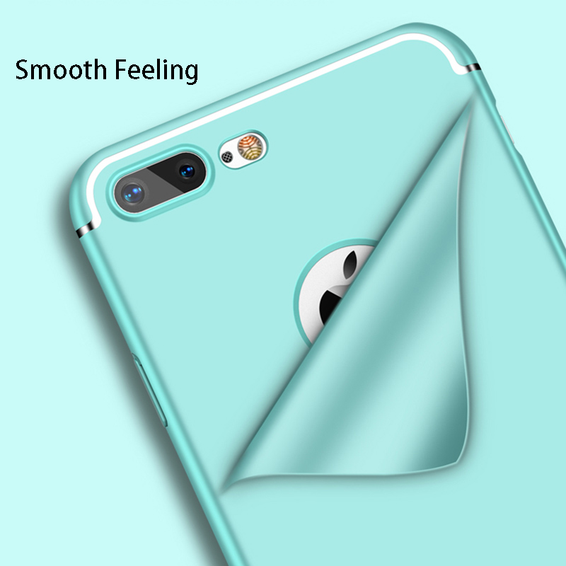 Hot Sale 7 Plus Hard PC Phone Case For iphone X 10 6 6S 7 Plus Full Cover Slim Protective Back Case For iphone 7 6S Plus Coques