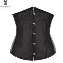 Атласный мини-корсет для талии, бюстье, топ для тренировок, форма тела, r размера плюс, сексуальный женский корсет под грудь, S-6XL, 28335
