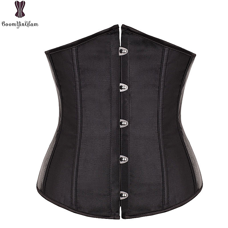 Free Shipping Satin Mini Waist Cincher Bustiers Top Workout Shape Body Shaper Plus Size Underbust Sexy Women Corset S-6XL 28335