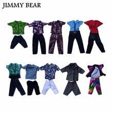 Subcluster 5 Pcs/Set or 10 Casual Suits Clothes Tops Pants For Barbies Boy Friend Ken Dolls
