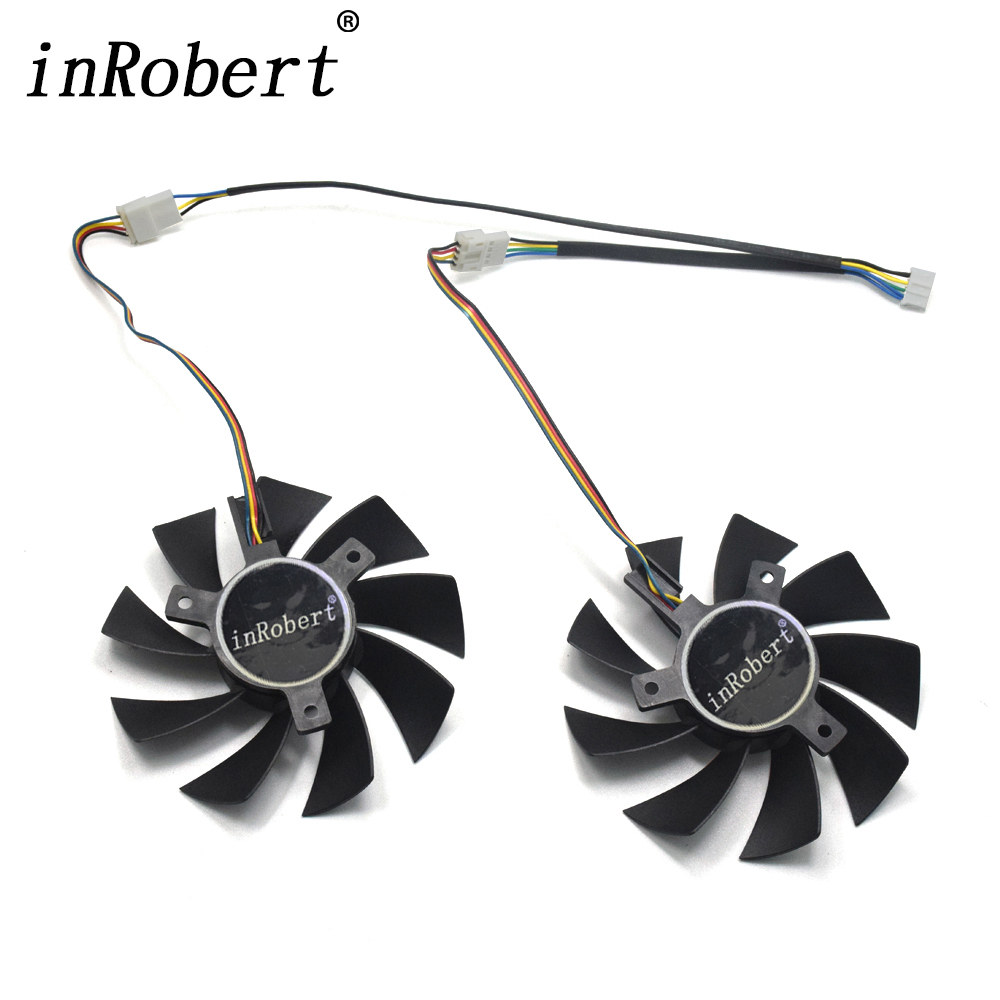 2pcs/lot RX 580 VGA GPU 4pin 85mm Graphics card Cooler Fan Replace for GIGABYTE RX580 Gaming 4G/8G MI Video Card fan