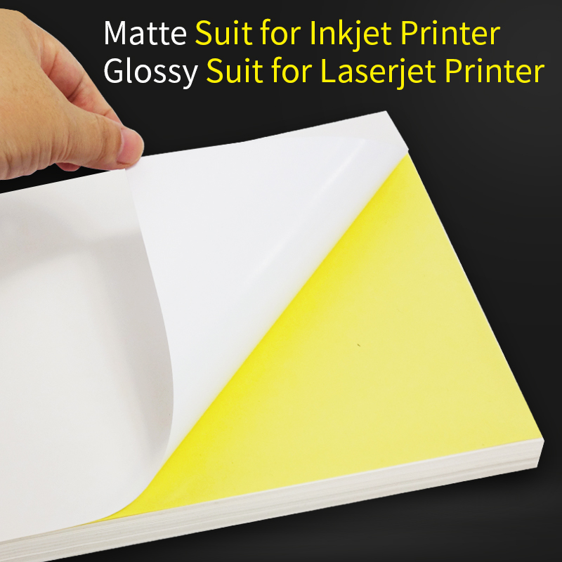 Image 3 - A4 Sticker Paper Label Sheets  for inkjet / Laser Printer /Copier, Matt/Gloss kraft Surface, 80 Sheets Per Pack-in Stationery Stickers from Office & School Supplies