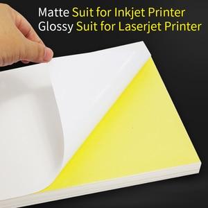 Image 3 - A4 Sticker Paper Label Sheets  for inkjet / Laser Printer /Copier, Matt/Gloss kraft Surface, 80 Sheets Per Pack