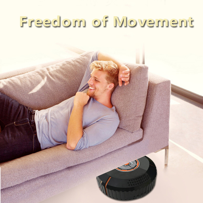 Auto Vacuum Cleaner Robot Cleaning Home Automatic Mop Dust Clean Sweeping black