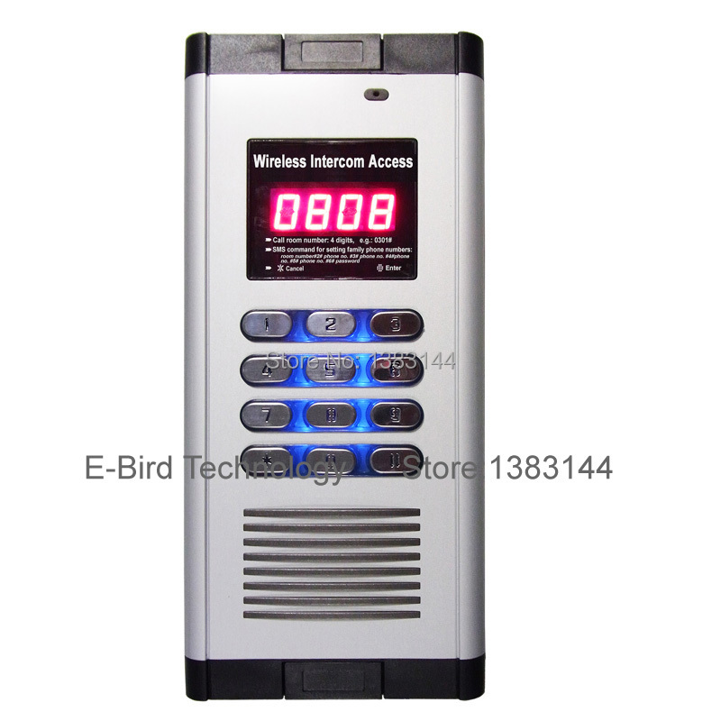Two-way Voice Communication optional audio wireless intercom access system for building with GSM door opener functionTwo-way Voice Communication optional audio wireless intercom access system for building with GSM door opener function